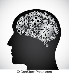 engranajes, mente, perfil