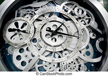 engranajes, reloj