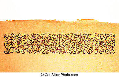 Engraved border - Pattern from an engraving on the top of a...