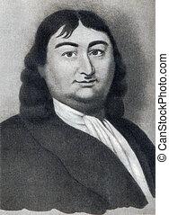 Engraved portrait of Vitus Bering