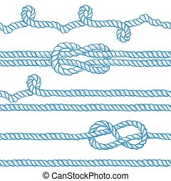 Engraved ropes and knots