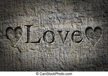 Engraved Word Love