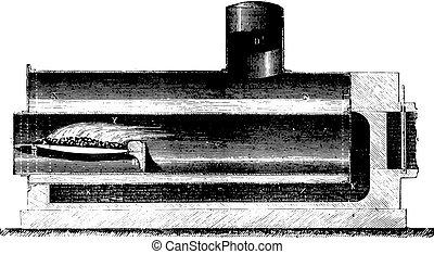 engraving., 型, ボイラー, cornwall