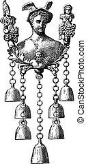engraving., 型, 鐘