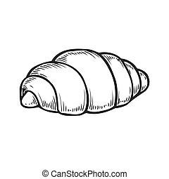 engraving croissant