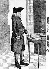 Adam Smith - Engraving of philospher and economist Adam ...