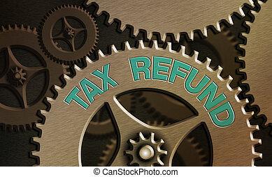 engrenage, impôts, business, photo, configuration, contrôle...