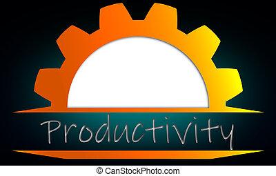 engrenage, productivité, business, augmentation, concept