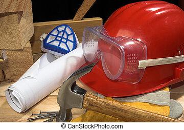 engrenagem segurança, equipamento