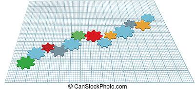 engrenagens, tecnologia, tech, mapa crescimento