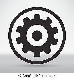 engrenages, isolé, objet, technique, mécanique, illustration