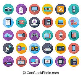 enheter, icons.