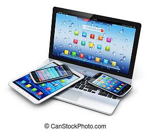 enheter, mobil