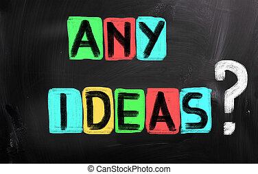 enig, ideeën, concept