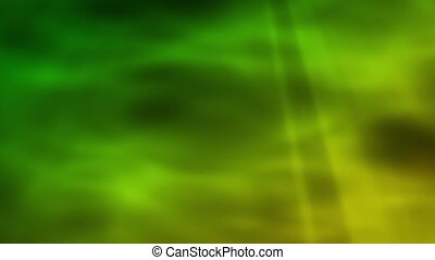 Enigma Abstract - Gold-Green Loop