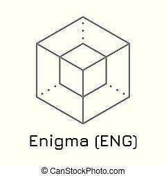 Enigma (ENG). Vector illustration crypto coin ico - Vector...