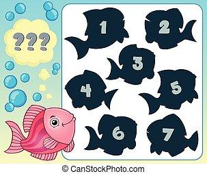 enigma, peixe, tema, imagem, 3