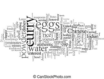 Enjoy an Easy Ethnic Supper text background wordcloud concept