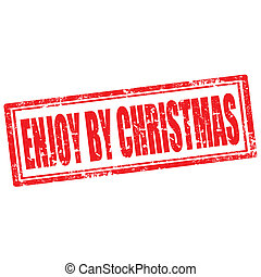 Enjoy By Christmas-stamp