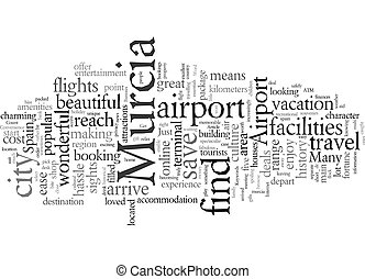 Enjoy Convenience At Murcia Airport text background wordcloud concept