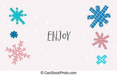 Enjoy snow winter Christmas snowflake season card