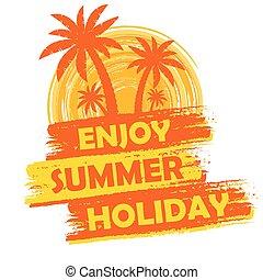 enjoy summer holiday with palms, v
