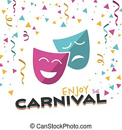 Enjoy the Carnival on a white background