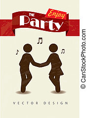 enjoy the party over white background vector illustration