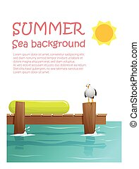 Enjoy tropical summer holiday background 2