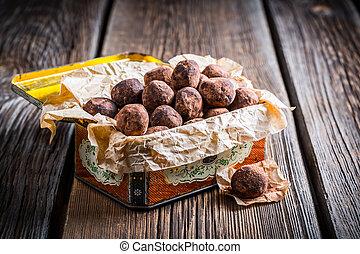 Enjoy your cocoa balls