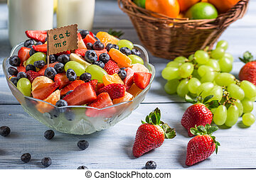 Enjoy your fresh fruit salad