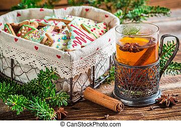 Enjoy your hot christmas tea