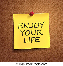enjoy your life words on post-it
