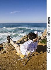 enjoying, , океан, посмотреть