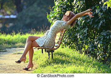 enjoying, солнце