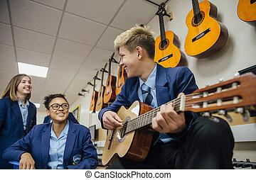 Enjoying A Music Lesson