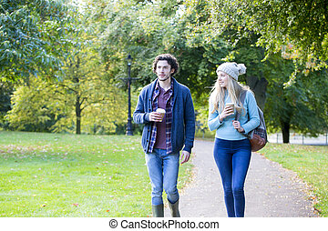 Enjoying an Autumn stroll