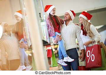 Enjoying Christmas shopping