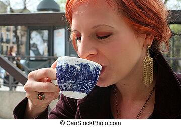enjoying coffee 2