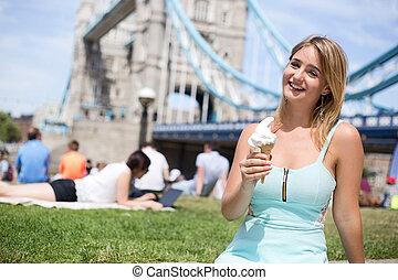 enjoying ice-cream