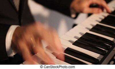 enjoying piano music