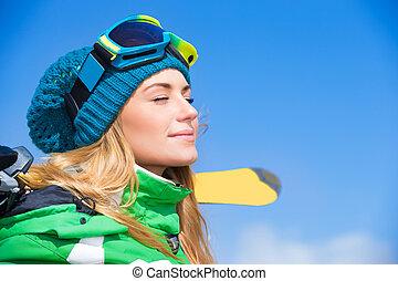 Enjoying winter activities
