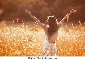 Enjoyment. Free woman