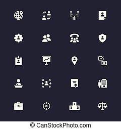 enkel, ikoner branche