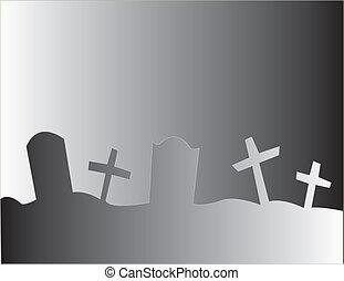 enkel, kyrkogård