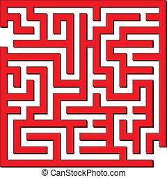 enkel, labyrint