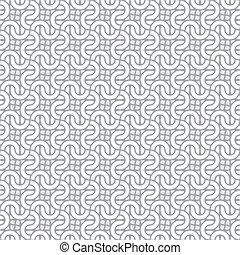 enkel, mönster, vektor, seamless, sammanfläta