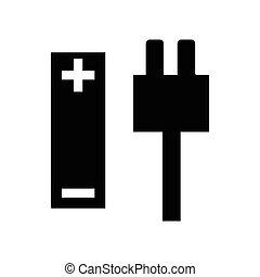 enkel, magt, ikon