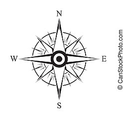 enkel, symbol, compas