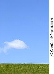 enkelhed, himmel, jord, sky